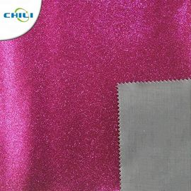 Customized Glitter Wall Fabric High Abrasion Resistance Easy Cutting Solid Color