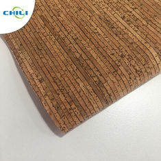 0.4±0.05mm Thick Thin Cork Roll , Wine Cork Fabric For Shoes Bags Wallpaper