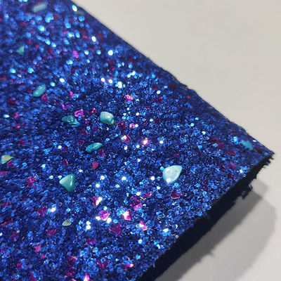 Bag 1.4mm 54/55' Sequin Sparkle Glitter PU Leather Fabric